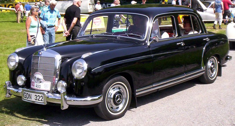 Mercedes Clase S Ponton W180 W128 1954